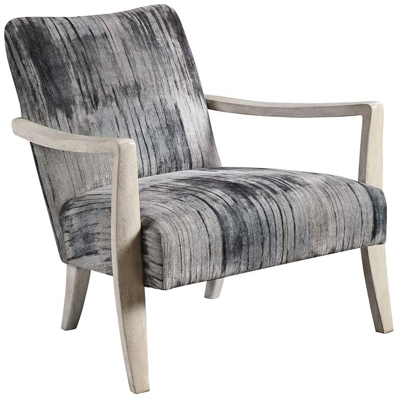Uttermost Watercolor Charcoal and Gray Accent Chair