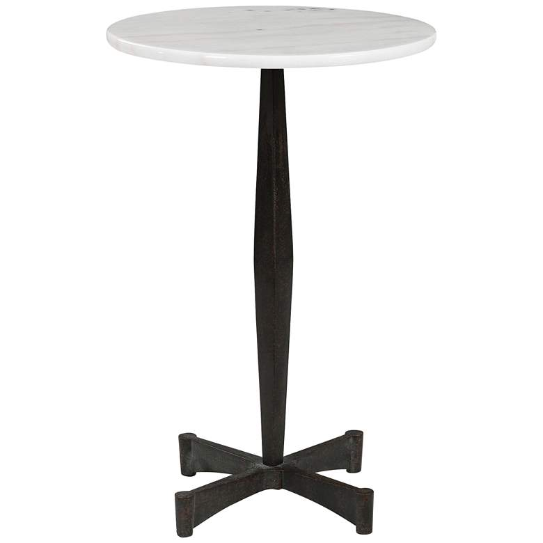 """Uttermost Counteract 15 3/4""""W Black and White Drink Table"""