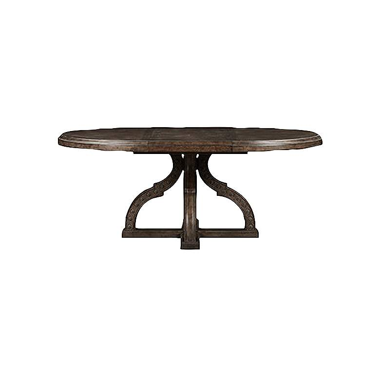 """Vintage Salvage Aiden 54""""W Walnut Extendable Dining Table"""