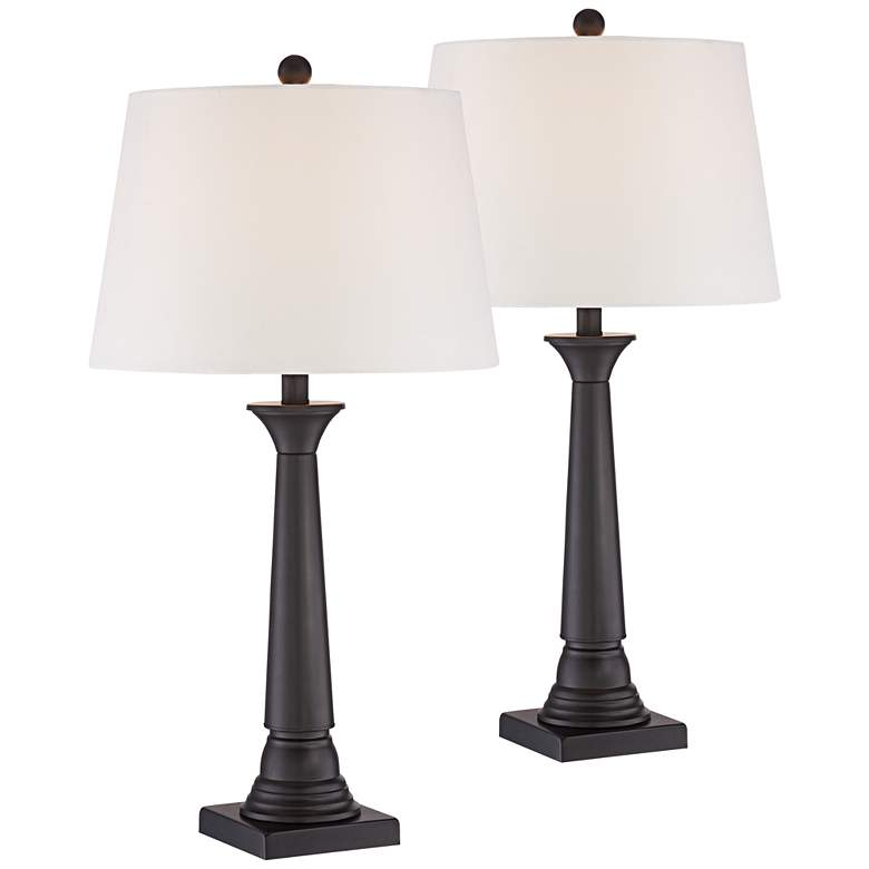 Dolbey Bronze Table Lamp Set of 2 with WiFi Smart Sockets