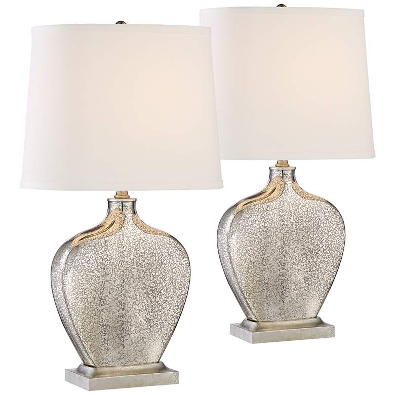 Axel Mercury Glass Table Lamp Set of 2 with WiFi Smart Sockets