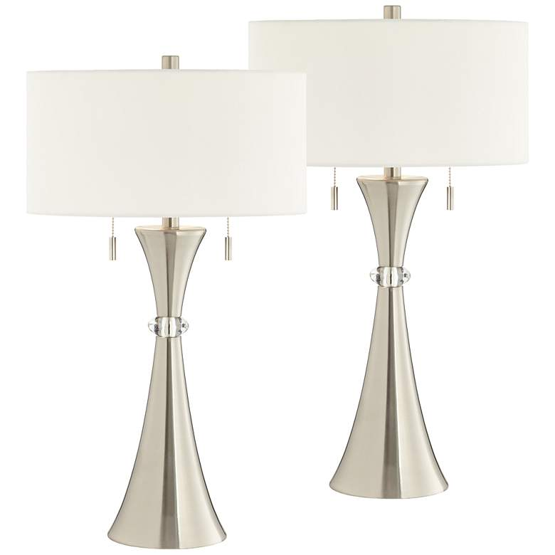 Rachel Concave Metal Table Lamp Set of 2 with WiFi Smart Sockets
