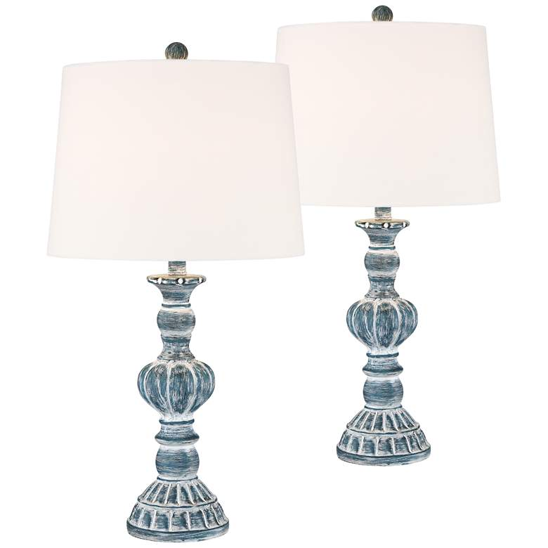 Tanya Blue Wash Table Lamp Set of 2 with WiFi Smart Sockets