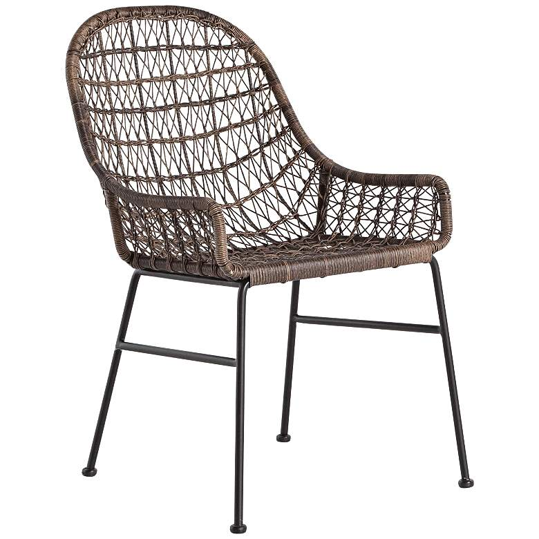 Bandera Distressed Gray Woven Outdoor Dining Chair