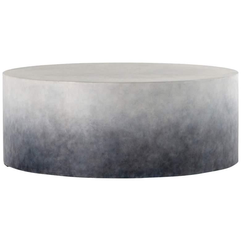 """Sheridan 42 1/4"""" Wide Indigo Ombre Drum Outdoor Coffee Table"""