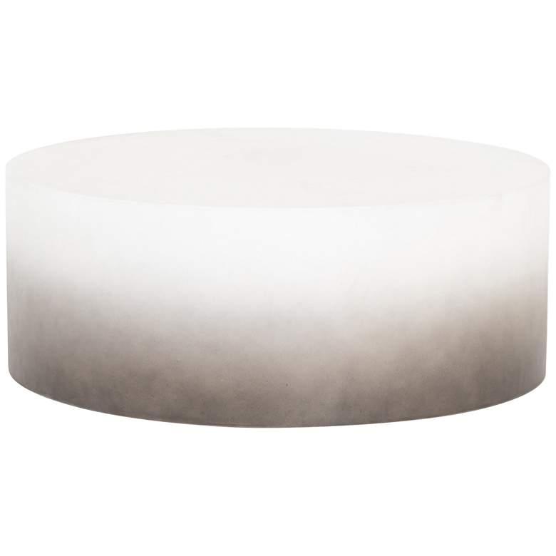 "Sheridan 42 1/4"" Wide Slate Gray Drum Outdoor Coffee Table"