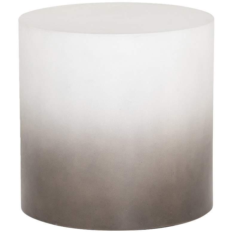 """Sheridan 20"""" Wide Slate Gray Drum Outdoor End Table"""