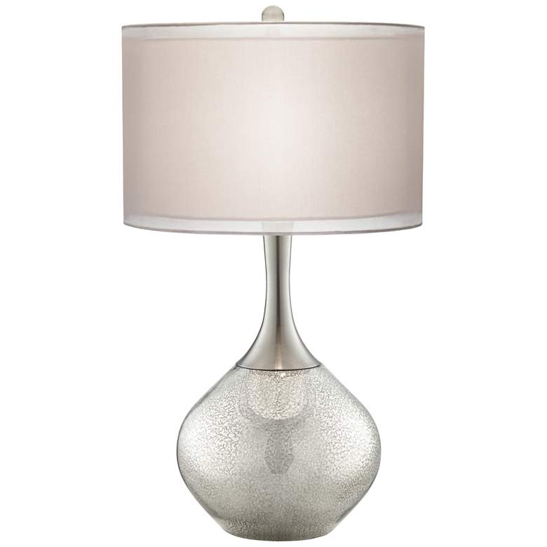 Possini Euro Swift Mercury Glass Lamp with Table Top Dimmer