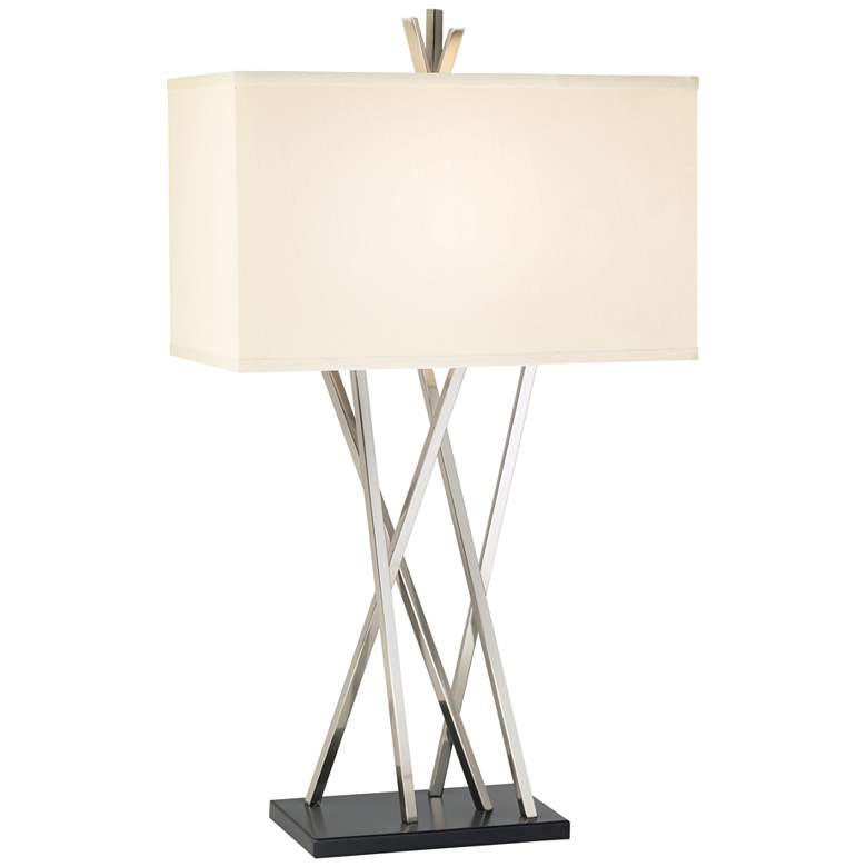 Possini Euro Design Asymmetry Table Lamp with Table Top Dimmer