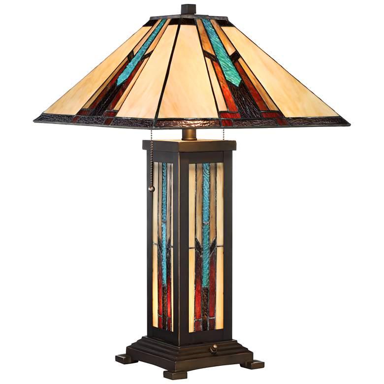 Robert Louis Tiffany Ranier Night Light Lamp w/ Table Top Dimmer