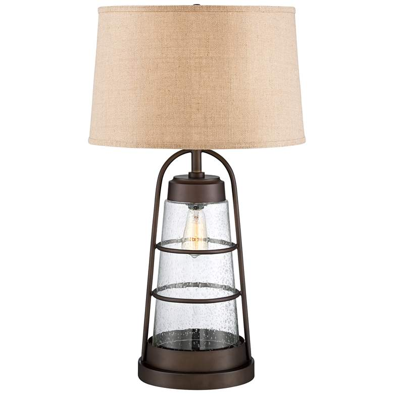 Industrial Lantern Lamp with Night Light with Table Top Dimmer