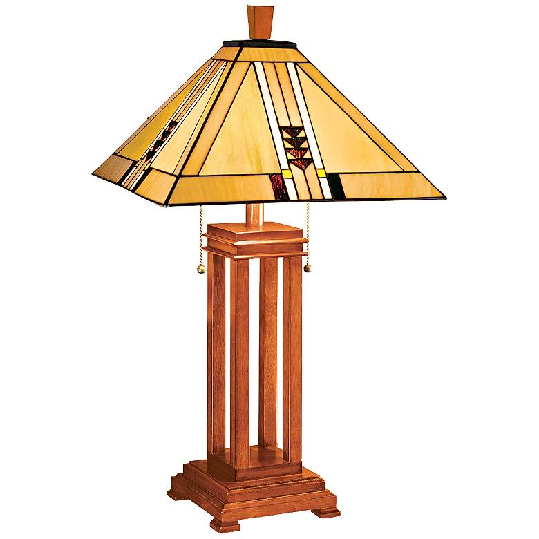 Mission Prairie Lamp by Robert Louis Tiffany w/ Table Top Dimmer