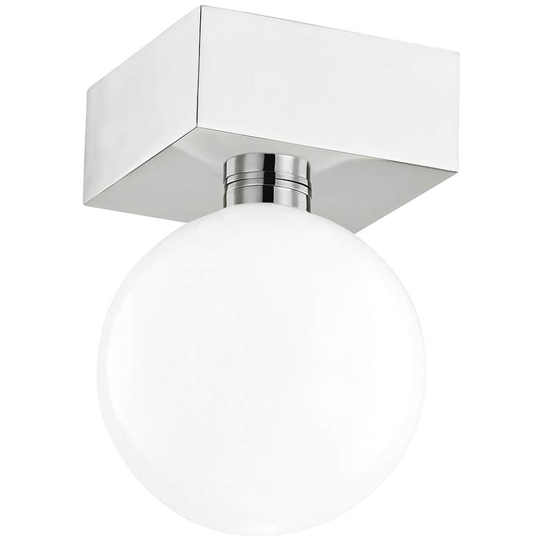 "Mitzi Aspyn 5 1/4"" Wide Polished Nickel LED Ceiling Light"