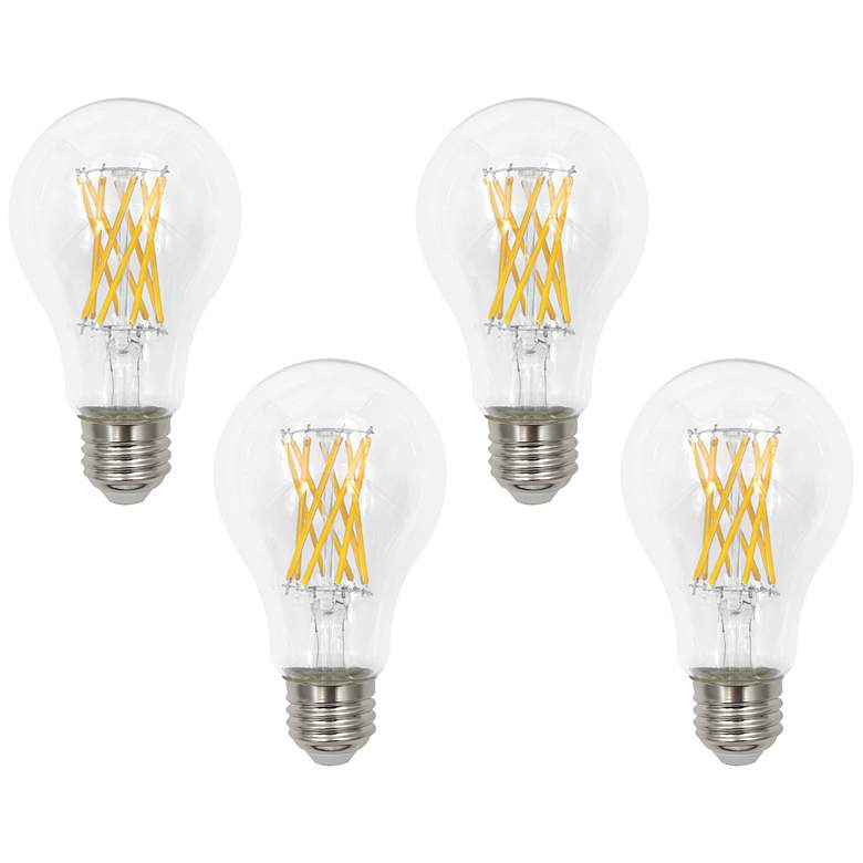 4-Pack 100W Equivalent Clear 12W LED Dimmable Standard Bulbs