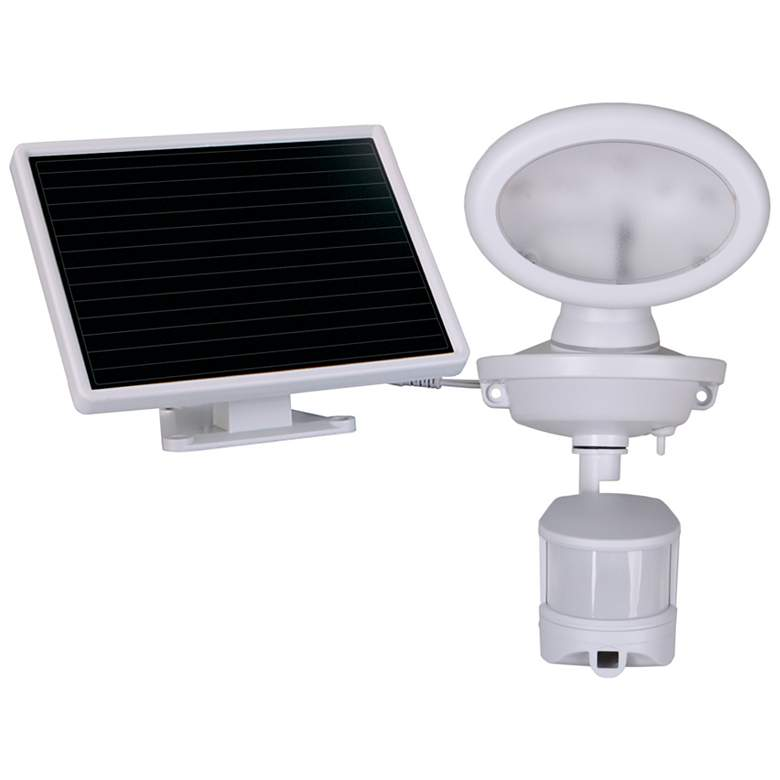 """6"""" High White Solar LED Security Video Camera and Spotlight"""