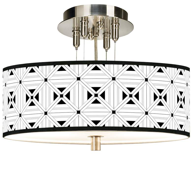 "Quadrille Giclee 14"" Wide Ceiling Light"