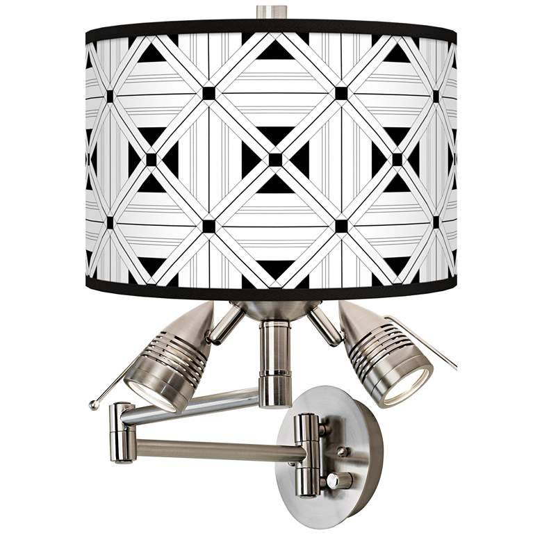 Quadrille Giclee Plug-In Swing Arm Wall Lamp