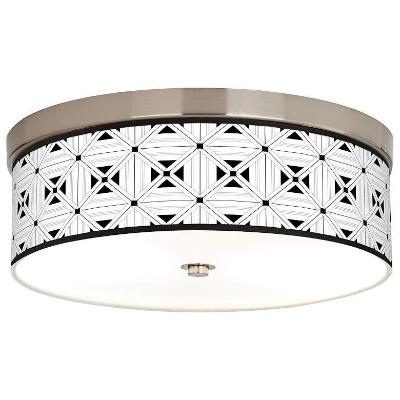 Quadrille Giclee Energy Efficient Ceiling Light