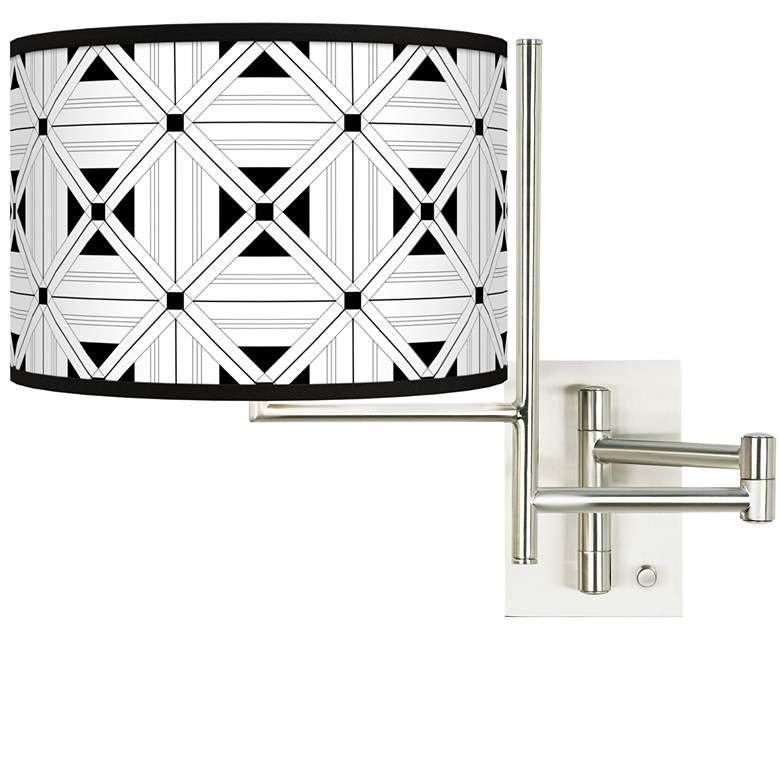 Tempo Quadrille Plug-in Swing Arm Wall Lamp