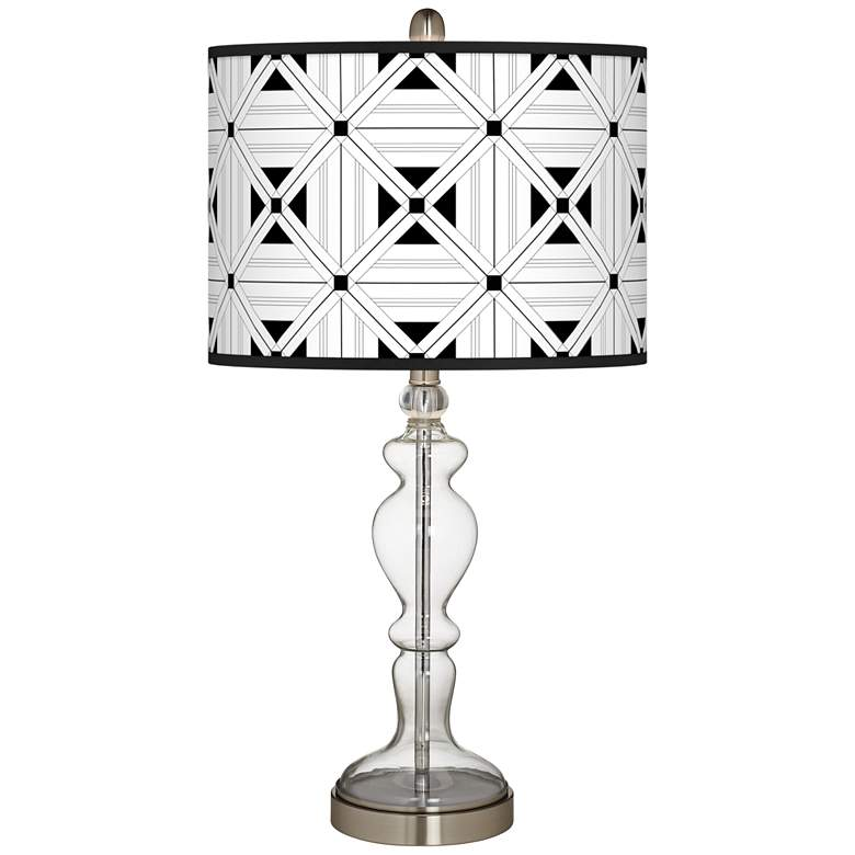 Quadrille Giclee Apothecary Clear Glass Table Lamp