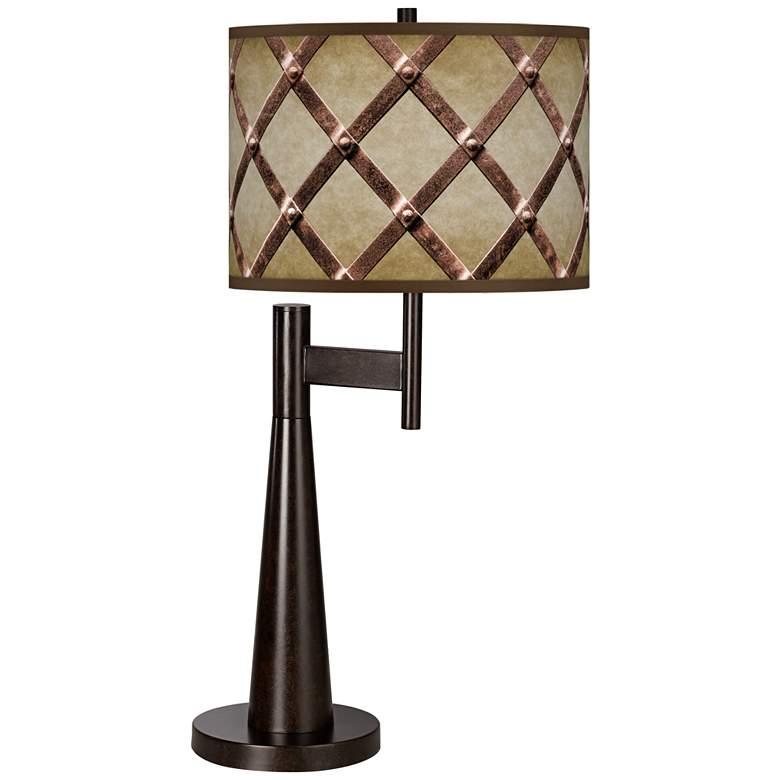 Metal Weave Giclee Novo Table Lamp