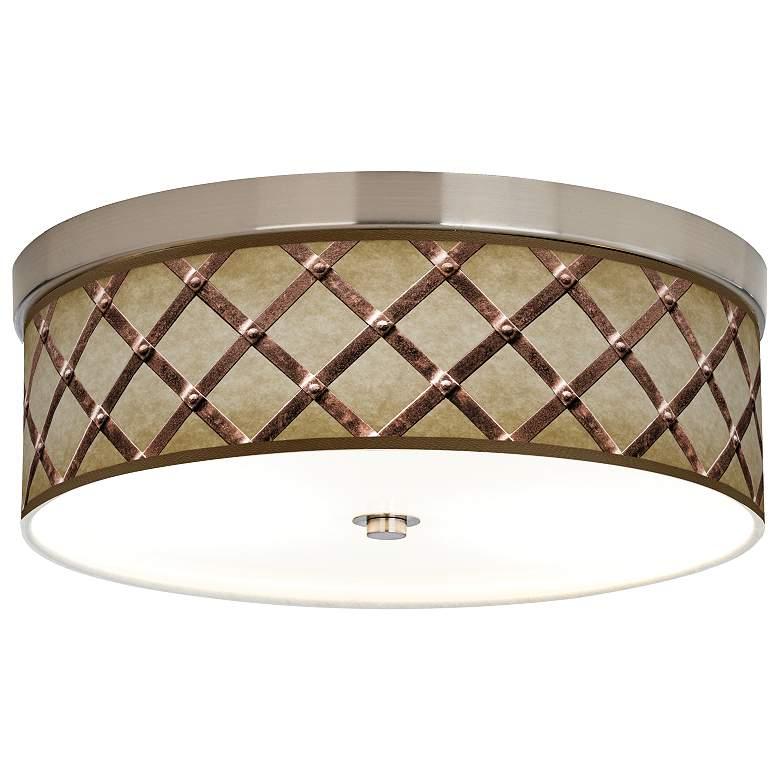 Metal Weave Giclee Energy Efficient Ceiling Light