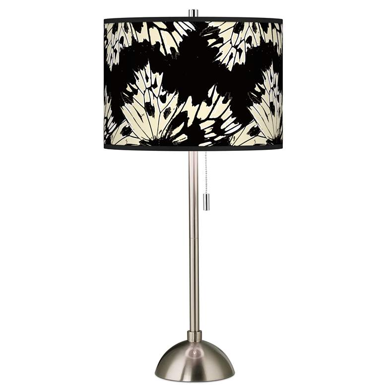 Wings Giclee Brushed Nickel Table Lamp