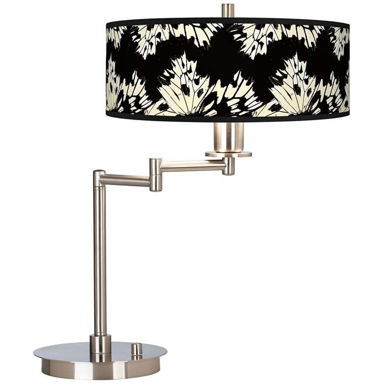 Wings Giclee Brushed Nickel Swing Arm LED Desk Lamp