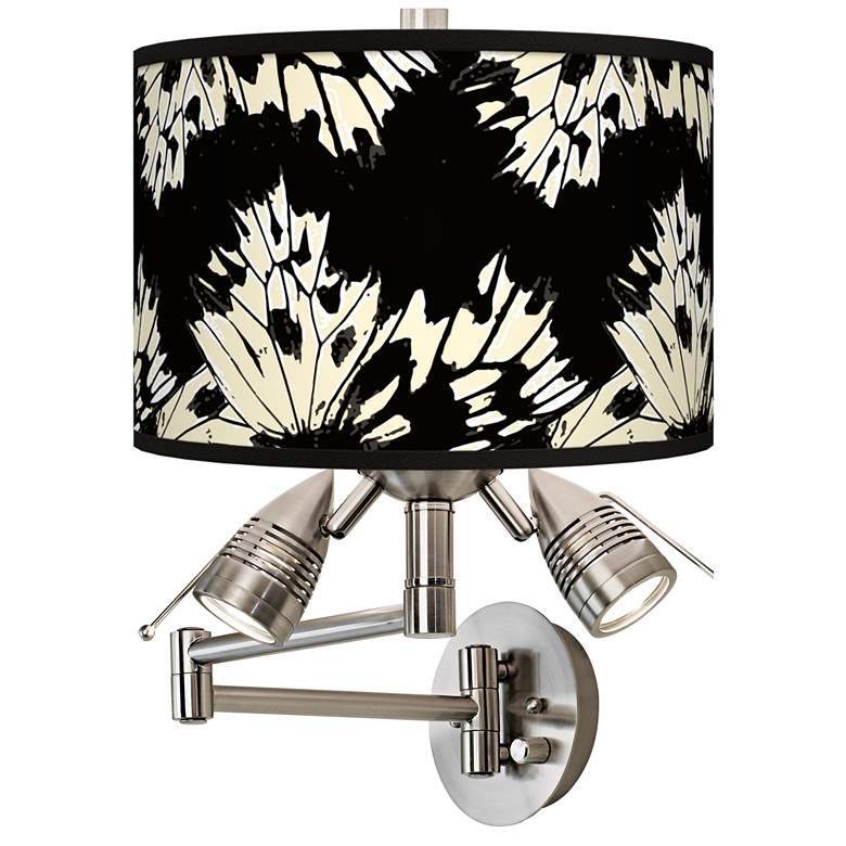 Wings Giclee Plug-In Swing Arm Wall Lamp