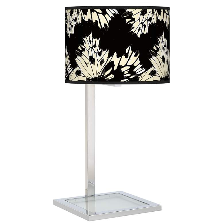 Wings Glass Inset Table Lamp