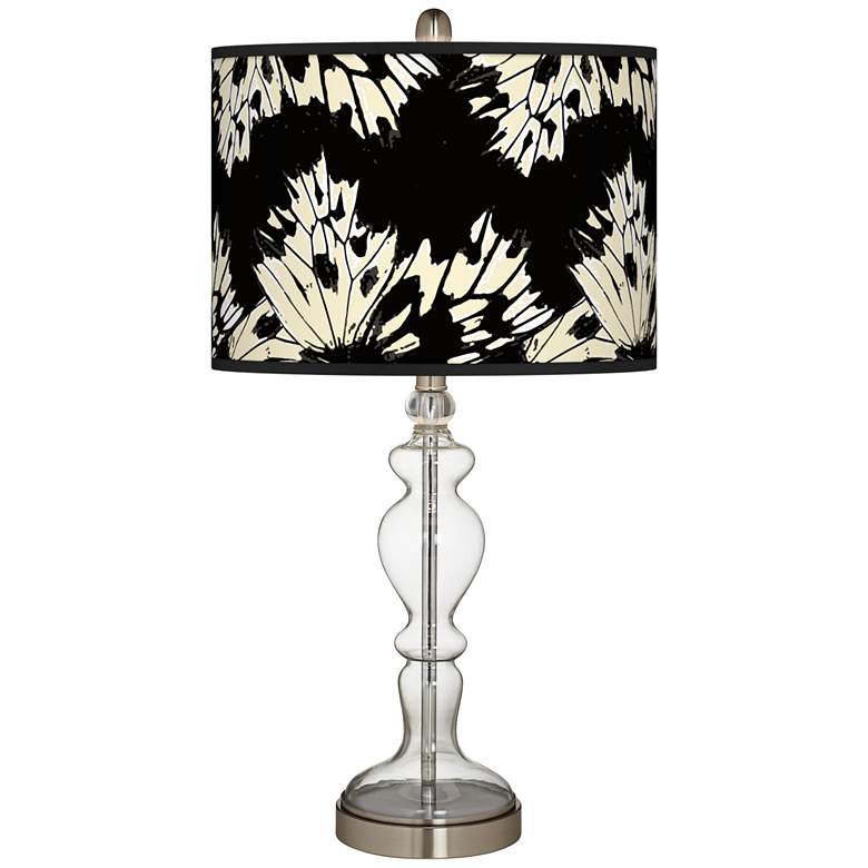 Wings Giclee Apothecary Clear Glass Table Lamp