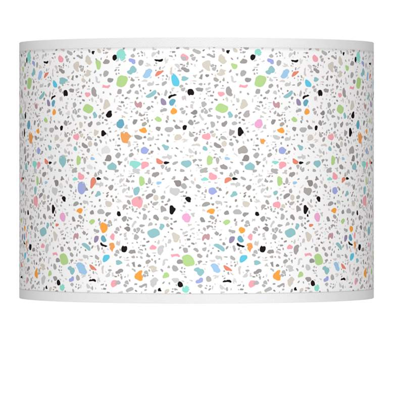 Colored Terrazzo Giclee Lamp Shade 13.5x13.5x10 (Spider)
