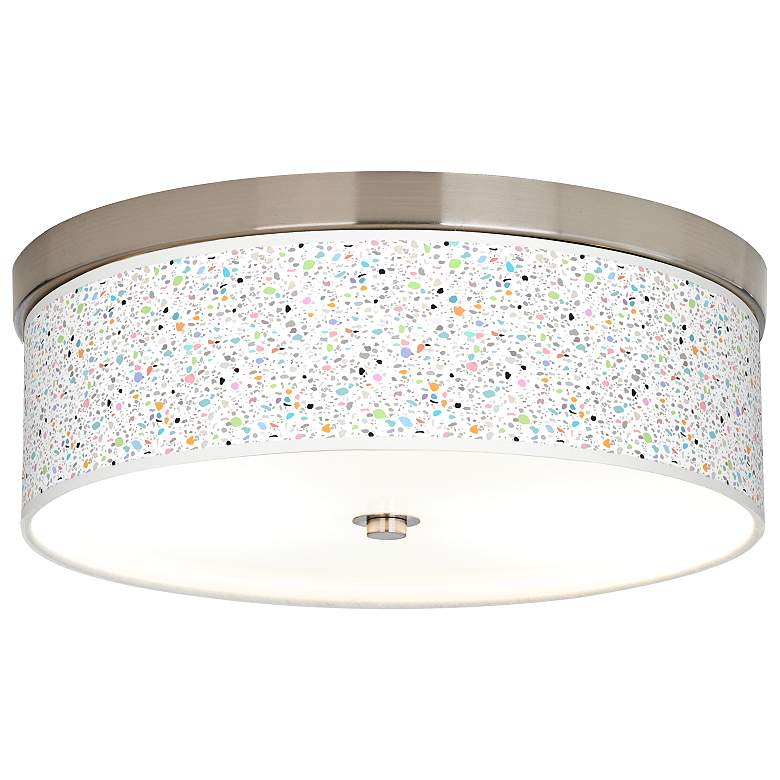 Colored Terrazzo Giclee Energy Efficient Ceiling Light