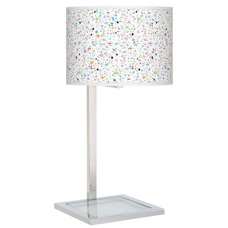 Colored Terrazzo Glass Inset Table Lamp