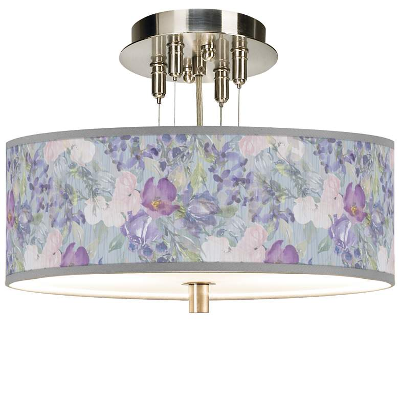 "Spring Flowers Giclee 14"" Wide Ceiling Light"
