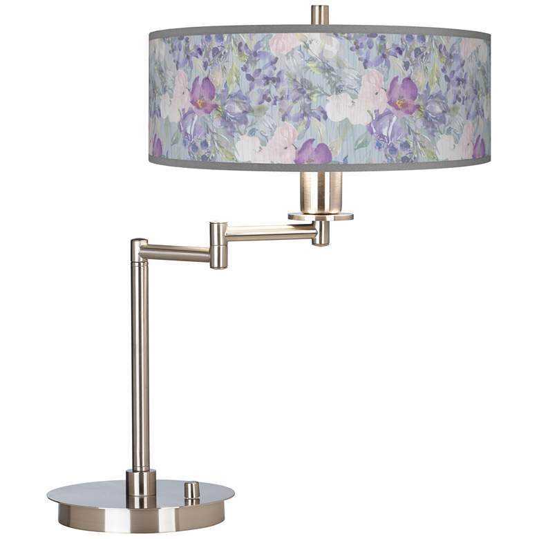 Spring Flowers Giclee Swing Arm LED Desk Lamp