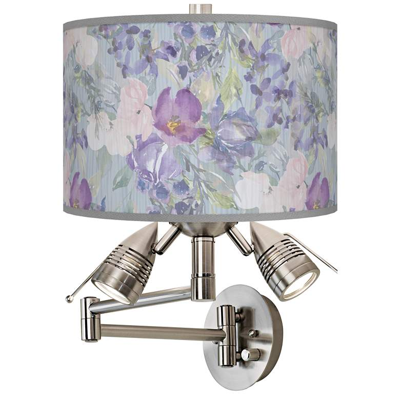 Spring Flowers Giclee Plug-In Swing Arm Wall Lamp