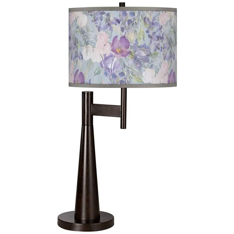 Spring Flowers Giclee Novo Table Lamp