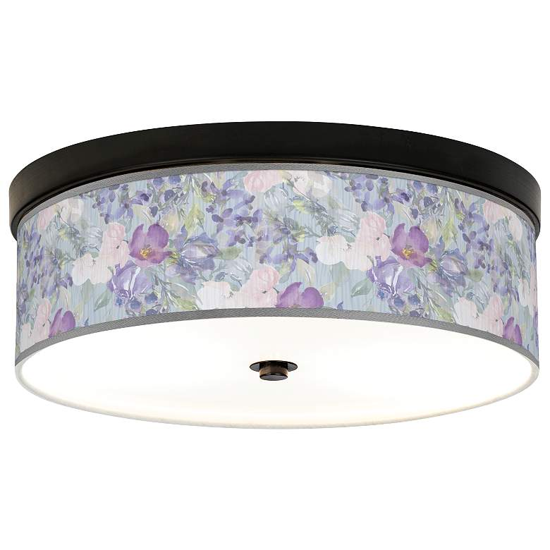 Spring Flowers Giclee Energy Efficient Bronze Ceiling Light