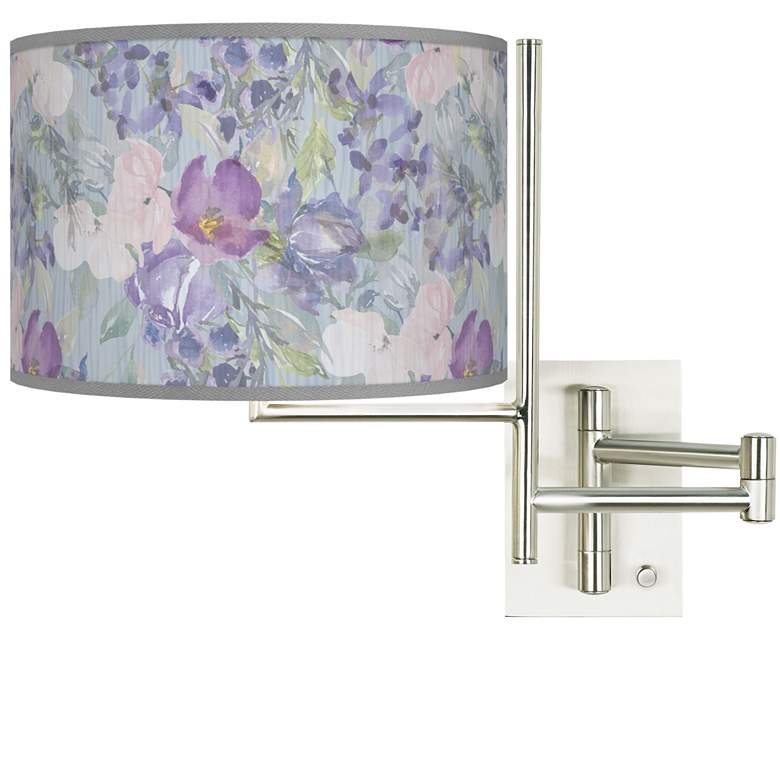 Tempo Spring Flowers Plug-in Swing Arm Wall Lamp