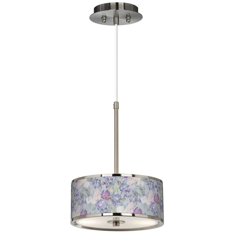 """Spring Flowers Giclee Glow 10 1/4"""" Wide Pendant Light"""