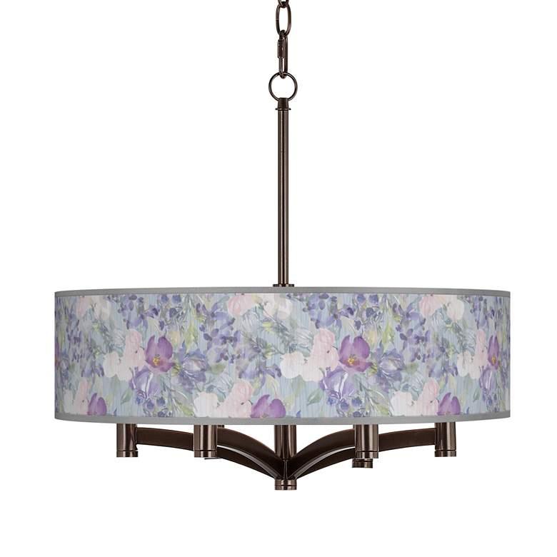 Spring Flowers Ava 6-Light Bronze Pendant Chandelier