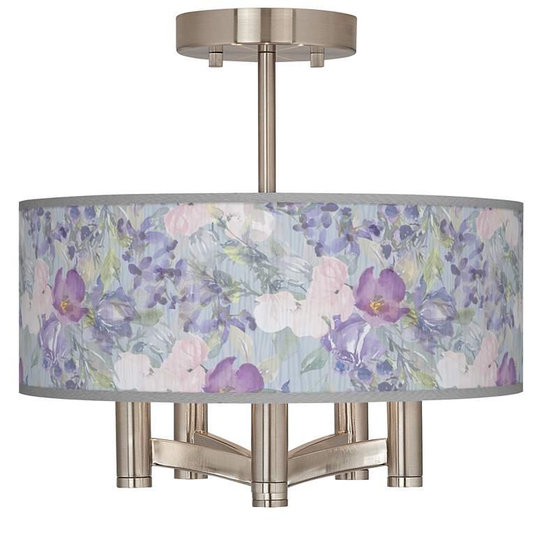 Spring Flowers Ava 5-Light Nickel Ceiling Light