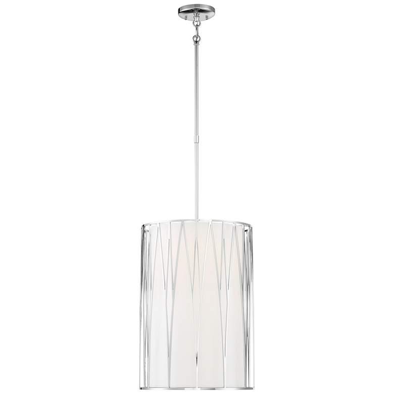 "Regal Terrace 14 1/4""W Polished Nickel LED Pendant Light"