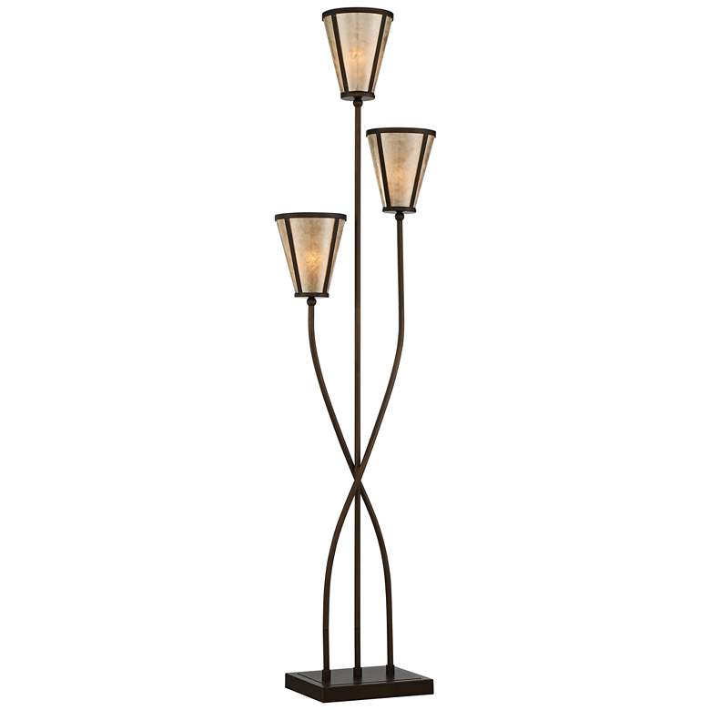 Sonoma 3-Light Tree Floor Lamp with Mica Shades