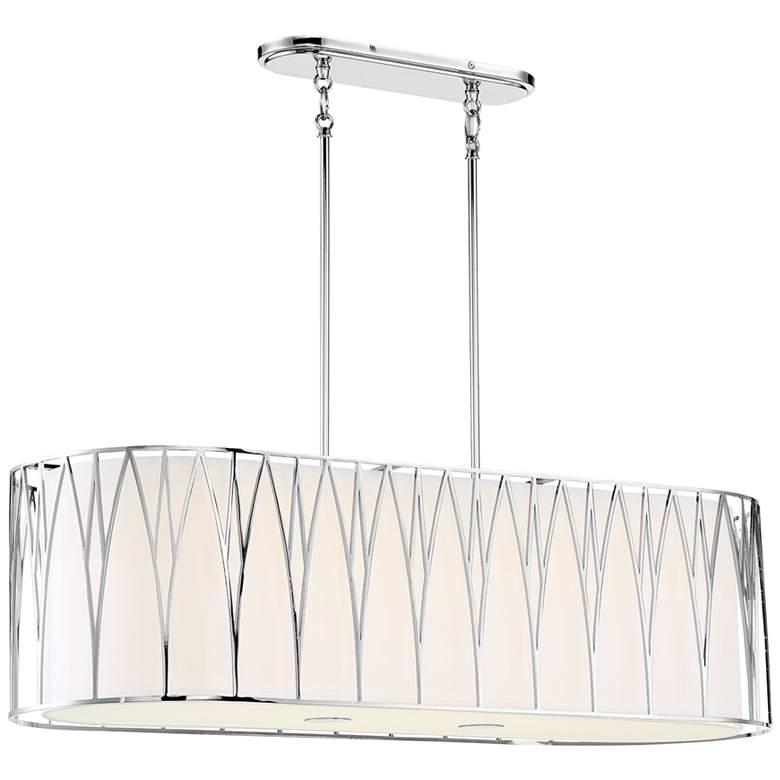 "Regal Terrace 42""W Polished Nickel LED Island Pendant Light"