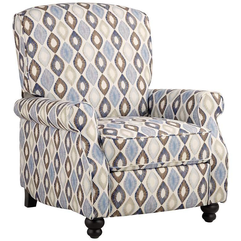 Blue Diamond Push Back Recliner Chair