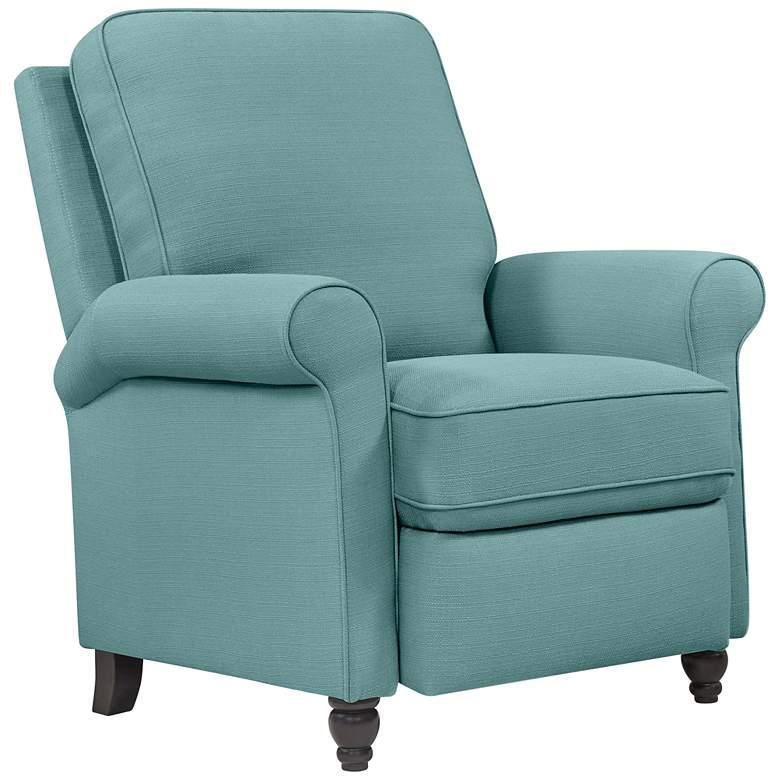 Skye Blue Push Back Recliner Chair