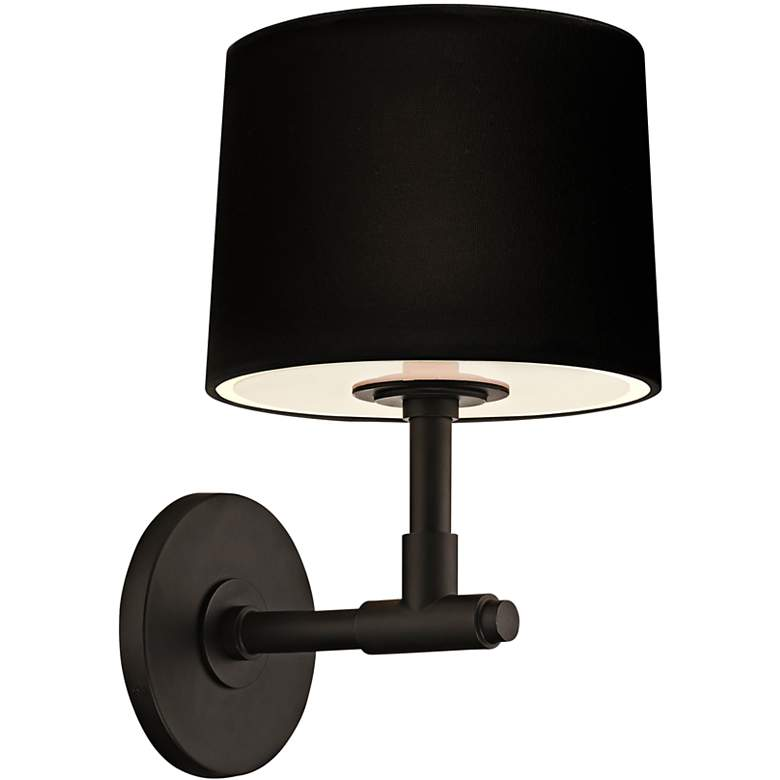 "Sonneman Soho 12 1/4"" High Satin Black Wall Sconce"