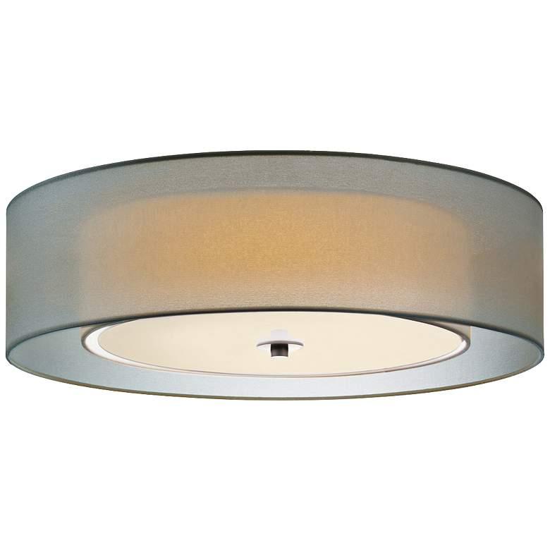 "Sonneman Puri 22"" Wide Satin Nickel Ceiling Light"